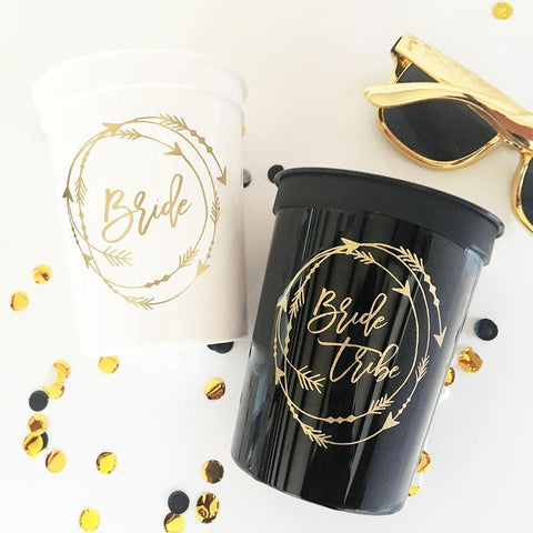 Bride Tribe Cups (Set of 10)-Jubilee Favors