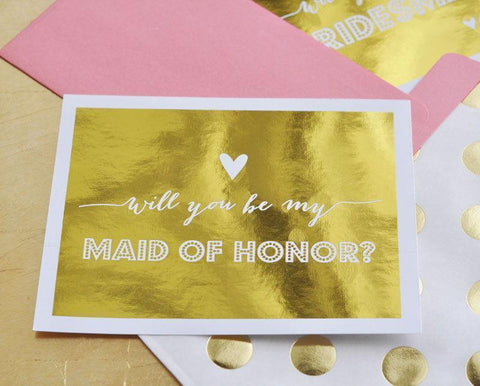 Bridesmaids & Maid of Honor Question Cards (set of 4)-Jubilee Favors
