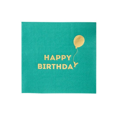 Bright Happy Birthday Napkin-Jubilee Favors