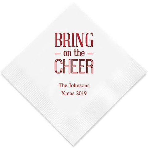Bring On The Cheer Printed Paper Napkins-Jubilee Favors