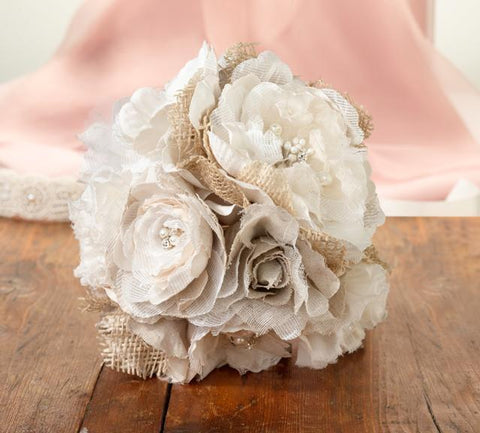 Burlap and Flower Bouquet-Jubilee Favors