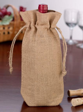 Burlap Wine Bag-Jubilee Favors