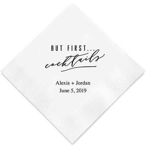 But First... Cocktails Printed Napkins-Jubilee Favors