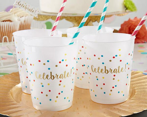 Celebrate Plastic Party Cups 14 oz. (Set of 12)-Jubilee Favors