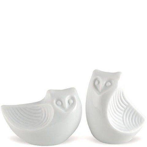 Ceramic Owl Salt And Pepper Shakers Gift Boxed-Jubilee Favors