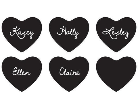 Chalk Heart Stickers (Set of 12)-Jubilee Favors