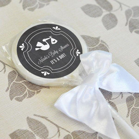 Chalkboard Baby Shower Personalized Lollipop Favors-Jubilee Favors