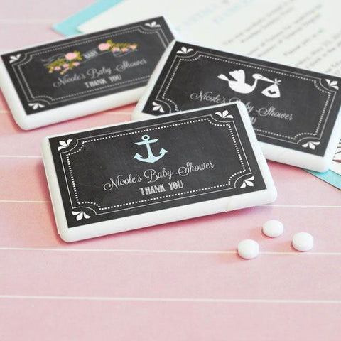 Chalkboard Baby Shower Personalized Mini Mint Favors-Jubilee Favors