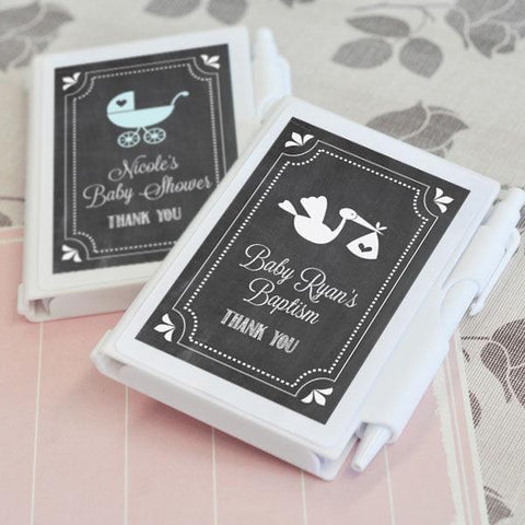 Chalkboard Baby Shower Personalized Notebook Favors-Jubilee Favors