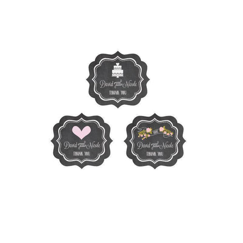 Chalkboard Wedding Personalized Frame Labels-Jubilee Favors