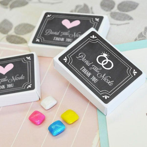 Chalkboard Wedding Personalized Gum Boxes-Jubilee Favors