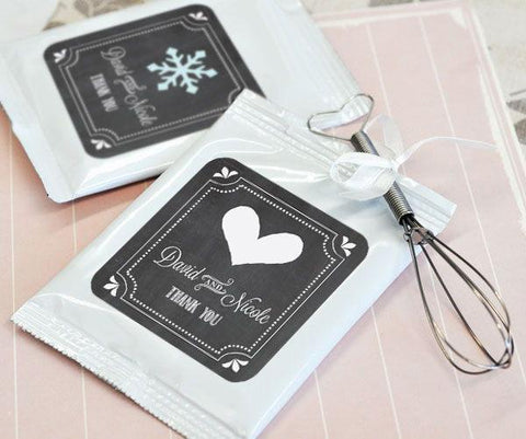 Chalkboard Wedding Personalized Hot Cocoa + Optional Heart Whisk-Jubilee Favors