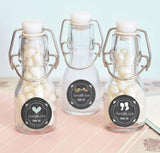Chalkboard Wedding Personalized Mini Glass Bottles-Jubilee Favors