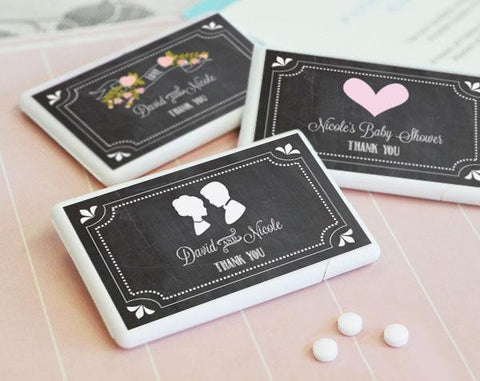 Chalkboard Wedding Personalized Mini Mint Favors-Jubilee Favors