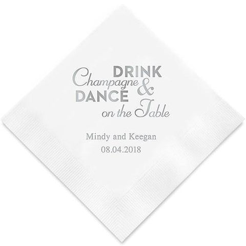 Champagne & Dance Printed Paper Napkins-Jubilee Favors