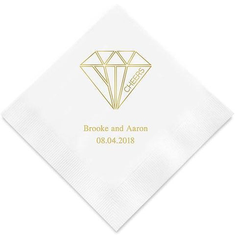 Cheers Geometric Diamond Printed Napkins-Jubilee Favors