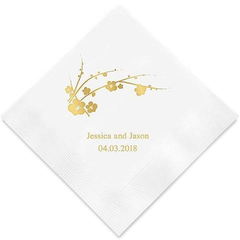 Cherry Blossom Printed Paper Napkins-Jubilee Favors
