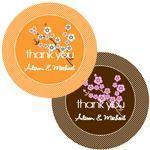Cherry Blossom Round Labels (set of 12)-Jubilee Favors
