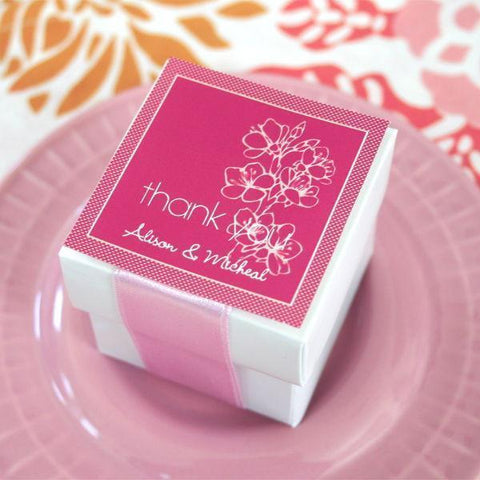 Cherry Blossom Square Tags & Labels (set of 20)-Jubilee Favors