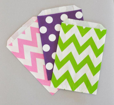 Chevron & Dots Goodie Bags (set of 12)-Jubilee Favors