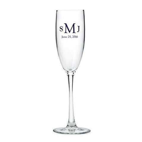 Classic Champagne Glass - Personalized-Jubilee Favors