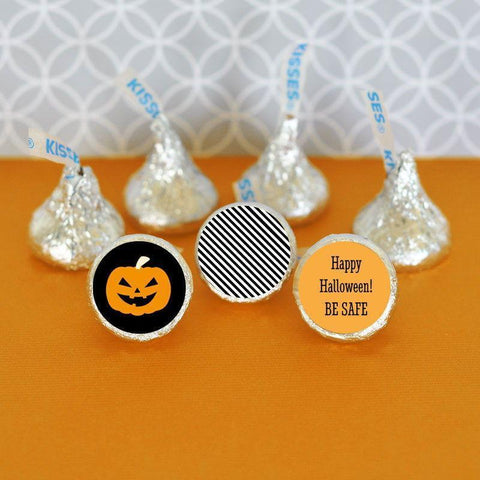Classic Halloween Personalized Hershey's® Kisses Labels Trio (set of 108)-Jubilee Favors