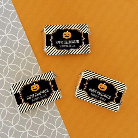 Classic Halloween Personalized Mini Candy Bar Wrappers-Jubilee Favors