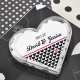 """Clearly In Love"" Heart Acrylic Boxes-Jubilee Favors"