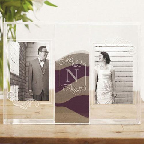 """Clearly Love"" Sand Ceremony Shadow Box With Photo Frames-Jubilee Favors"