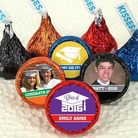 Colored Foil Hershey's Kisses - Graduation (Set of 100)-Jubilee Favors
