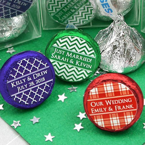 Colored Foil Hershey's Kisses - Silhouette Collection (Set of 100)-Jubilee Favors
