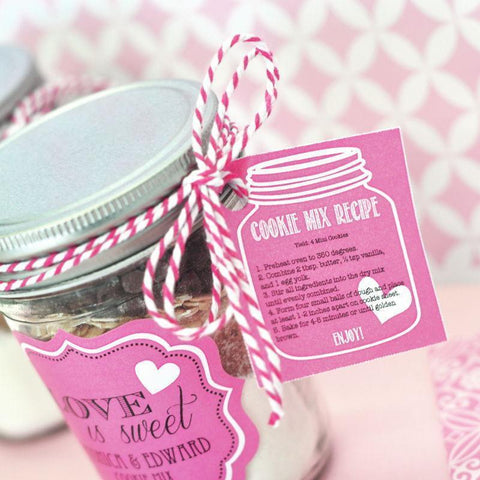 Cookie Mix Mason Jar Recipe Tags-Jubilee Favors