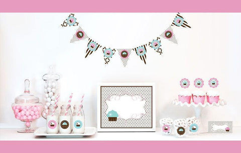 Cupcake Party Decorations Starter Kit-Jubilee Favors