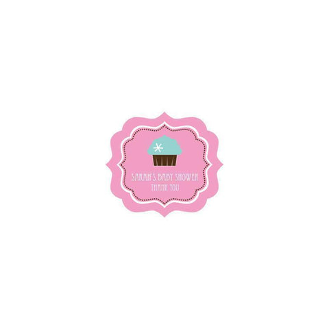 Cupcake Party Frame Personalized Labels-Jubilee Favors