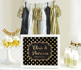 Custom Text Sign – Metallic Foil-Jubilee Favors