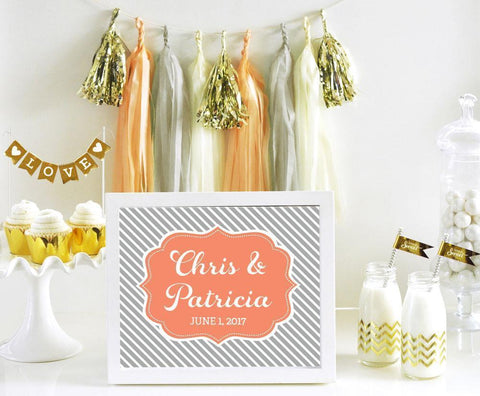 Custom Text Sign Wedding-Jubilee Favors