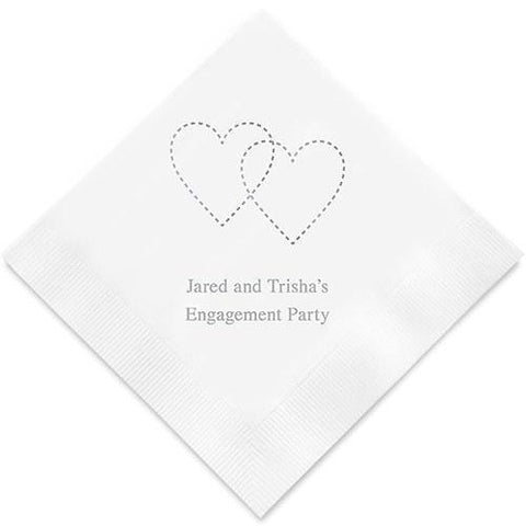Dashed Hearts Printed Paper Napkins-Jubilee Favors