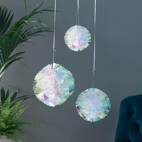 Decadent Decs Iridescent Honeycomb Decorations-Jubilee Favors