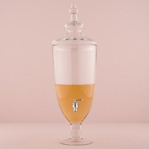 Decorative Apothecary Style Clear Glass Beverage Dispenser-Jubilee Favors
