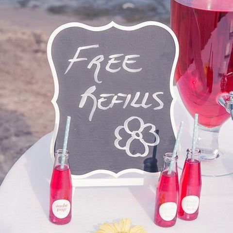 Decorative Chalkboards With White Frame - Large-Jubilee Favors