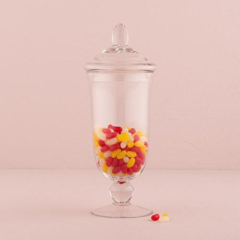 Decorative Pedestaled Apothecary Jar With Bell Shaped Bowl-Jubilee Favors
