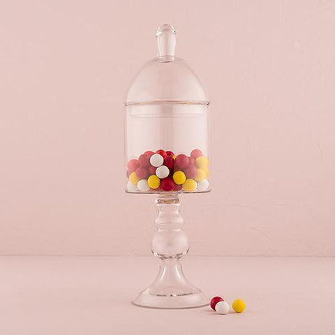 Decorative Pedestaled Apothecary Jar With Straight Sided Bowl-Jubilee Favors