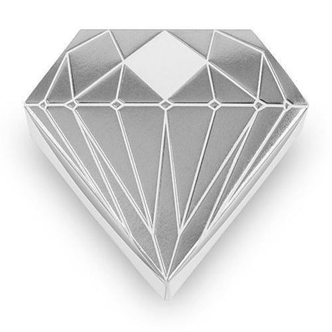 Diamond Favor Box With Metallic Silver-Jubilee Favors