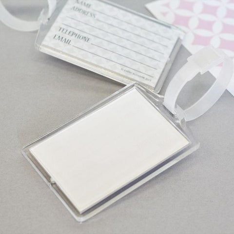 DIY Blank Acrylic Luggage Tags-Jubilee Favors