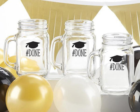 #Done Graduation 16 oz. Mason Jar Mug (Set of 4)-Jubilee Favors