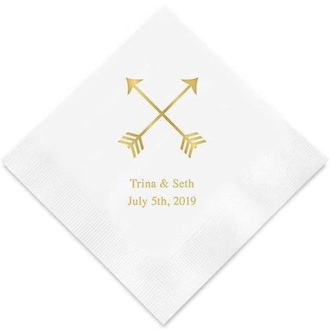 Double Arrows Printed Paper Napkins-Jubilee Favors