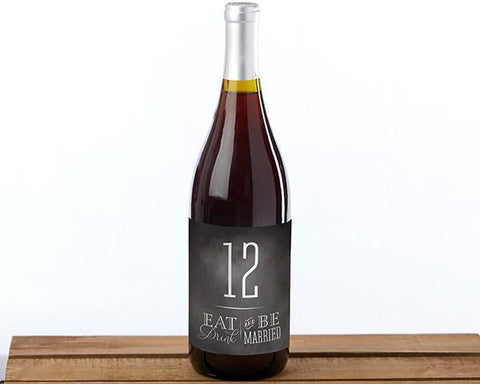 Eat Drink be Married Wine Label Table Numbers (1-20)-Jubilee Favors