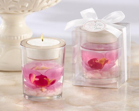 """Elegant Orchid"" Tealight Holder-Jubilee Favors"
