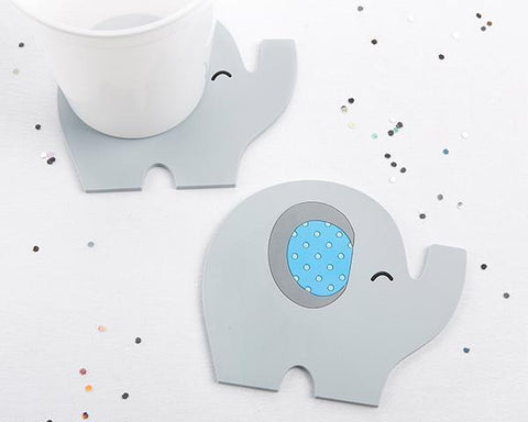 Elephant Coaster - Little Peanut (Blue)-Jubilee Favors