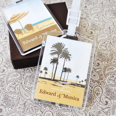 Elite Design Personalized Acrylic Luggage Tags-Jubilee Favors